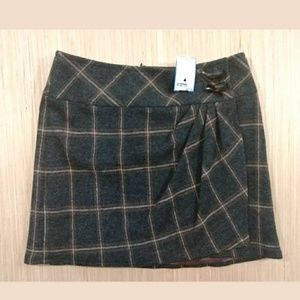Nanette Lepore womens plaid mini skirt size 0